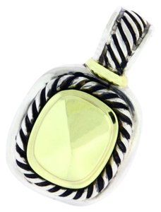 David Yurman David Yurman faceted gold Albion enhancer pendant in 14k and Sterling
