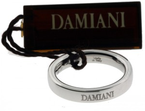 Damiani's Damiani comfort fit band ring in 18K White gold 3.5mm size 5.75
