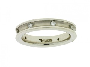 Diane Von Furstenberg Diana 33-n1323d Ladies Diamond Wedding Band Ring 18k White Gold Size 6