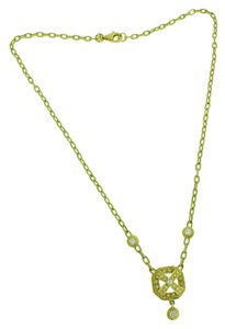 DORIS PANOS Doris Panos diamond necklace in 18 karat yellow gold.