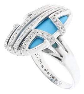 Di MODOLO Di Modolo Favola Diamonds & Turquoise ring in 18K White Gold.