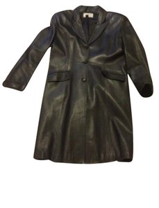 Alexia Crawford Leather Large Trench Coat
