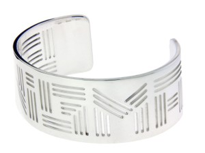 "BVLGARI Enigma By Bulgari ""ENIGMA LOGO"" bangle in sterling silver size Medium"