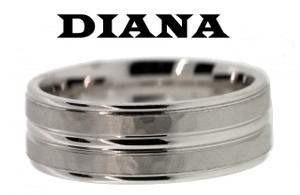 Diana 11n6915wg Wedding Band 14k White Gold Size 10