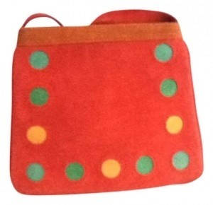 Taagra Suede Tote in Red