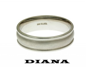 Diane Von Furstenberg Diana 11-n7012 Wedding Band 14k White Gold Size 10