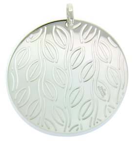 BVLGARI Enigma By Bulgari large round pendant in sterling silver.
