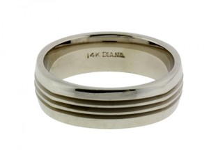 Diane Von Furstenberg Diana 11-n7168w Wedding Band 14k White Gold Size 10