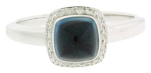 FRED Fred Paris topaz & diamond ring in 18k white gold size 53 (US 6.25)