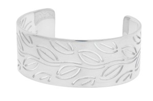 BVLGARI Enigma By Bulgari leaves bangle in sterling silver.