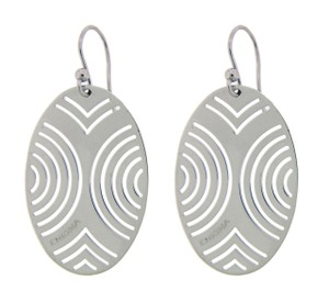 BVLGARI Enigma By Bulgari oval earrings in sterling silver.