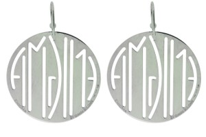 BVLGARI Enigma By Bulgari round earrings in sterling silver.