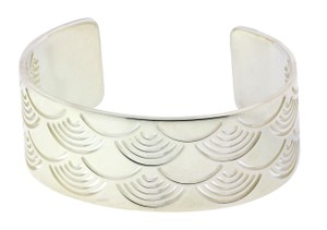 BVLGARI Enigma By Bulgari Women's sun bangle bracelet in silver size large