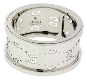 Gucci Gucci spinning ring in 18k white gold size 13 USA 6.25
