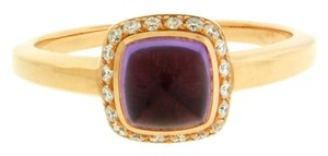 FRED Fred Paris amethyst & diamond ring in 18k rose gold size 55(US 7.25).