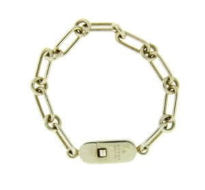 Gucci Gucci ID bracelet in sterling silver new in Gucci box 7 inches.