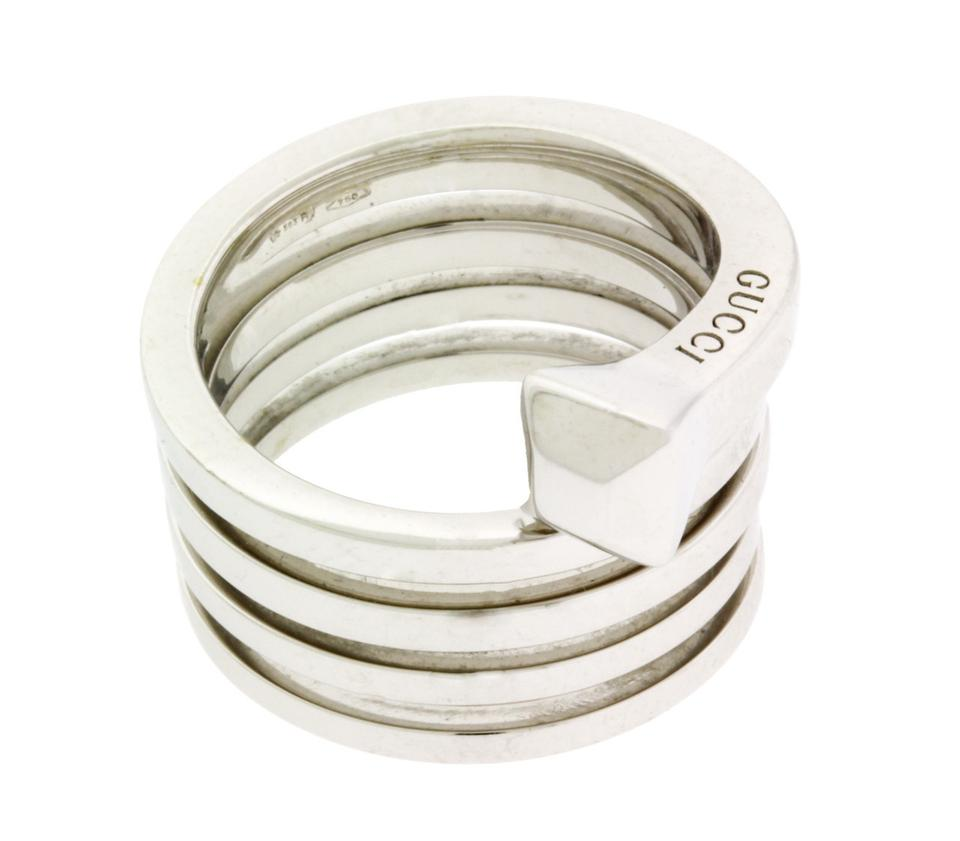 fc729963603 Gucci Chiodo Women s Spiral Nail 18k New In Box Size 6.75 Ring - Tradesy