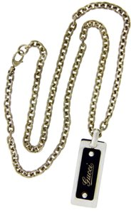 "Gucci Gucci dog tags / necklace in sterling silver new in Gucci box 24""."