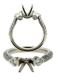 House Of Baguett 1 Carat Pave Diamond Engagement Ring In 14k Gold