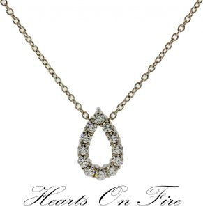 Hearts on Fire Hearts On Fire diamond whimsical mini pear necklace.