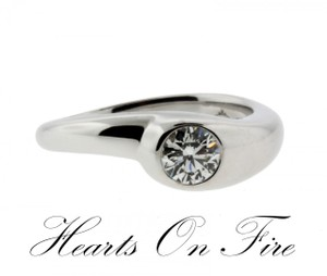 Hearts On Fire Ladies 42ct Solitaire Diamond Engagement Ring In 18k White Gold