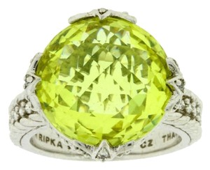 Judith Ripka Judith Ripka canary Crystal & CZ ring in Sterling silver size 8