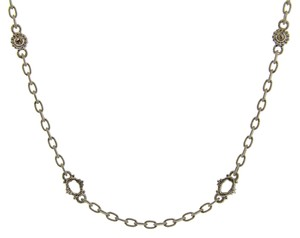 Judith Ripka Judith Ripka white sapphire basic Oasis necklace in Sterling silver 17