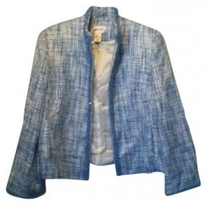 Draper's and Damon's Tweed Beaded Powder Blue Blazer