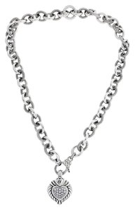 Judith Ripka Judith Ripka Heavy heart necklace in sterling silver.