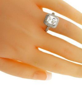 Odelia Womens Diamond Engagement Ring 18k Fits 3 Carat Emerald Cut