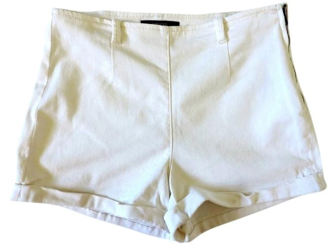 Item - Cream High Waist Stretch 27 Shorts Size 4 (S, 27)