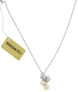 Mikimoto Mikimoto Akoya pearl necklace in 18k white gold 16 inches long