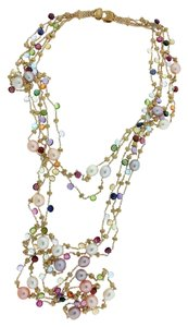Marco Bicego Marco Bicego Womens 18k Extra long Multicolored Stone Necklace