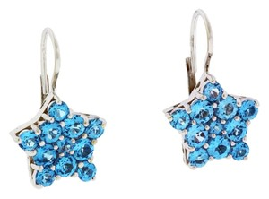 Pasquale Bruni Pasquale Bruni blue topaz earrings in 18k white gold.