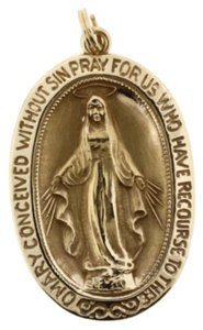 Other MOTHER MARY PENDANT IN 14k YELLOW GOLD BRAND NEW!
