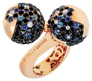 Pasquale Bruni Pasquale Bruni Sogni D'oro VS1 G Diamond & Sapphire Ring In Rose gold