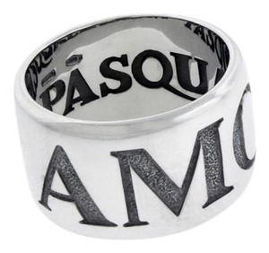 Pasquale Bruni Pasquale Bruni wide Amore ring in 18k white gold.