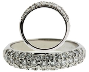 Pave Pave set diamond band in 14k white gold VS2-H new size 7