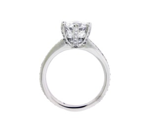 Ritani 1r3269 Pave Set Engagement Ring In Platinum Fits 2 Carats Round Size 65