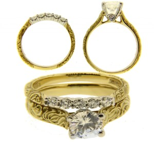 Scott Kay Scott Kay .30ct Diamond Engagement Ring Set In 19k Gold & Platinum