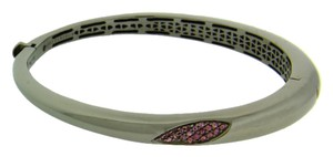 Roberto Coin Roberto Coin Rhodolite Capri Plus bangle in Sterling Silver Ruthenium.