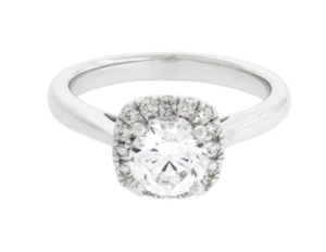 Scott Kay Scott Kay M1677r310 Diamond Halo Engagement Ring In 14k White Gold