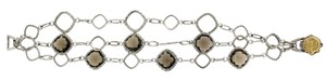 Tacori Tacori 18k Yellow Gold And Silver 3 Strand Smokey Quartz Bracelet New