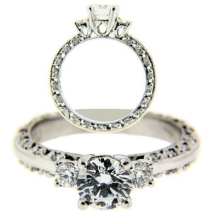Tacori Tacori.39 Carat Diamond Engagement Ring In Platinum Fits .90 Carat.