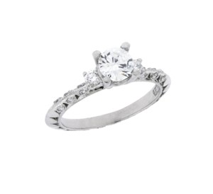 Tacori Tacori 3 Stone Diamond Engagement Ring In Platinum Size 6.5