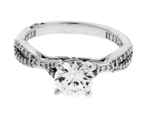 Tacori 3004 Ribbon Engagement Ring In 18k White Gold Fits 1 Carat Diamond