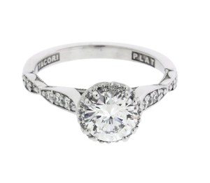 Tacori 392 Rd65 Dantela Engagement Ring In Platinum Fits 1 Carat Diamond