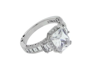 Tacori Ht2535 18k Vs G Diamond Engagement Ring Fits 3 Carat Emerald Cut Sz 625