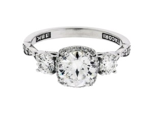 Tacori 542cu65 Dantela Engagement Ring In 18k White Gold Fits 1 Carat Diamond