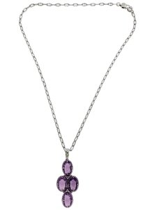 Tacori Tacori SN15201 Silver Oval Necklace With Amethyst 18k And Silver